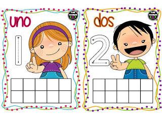 Trazar números de 1 al 10 lectoescritura