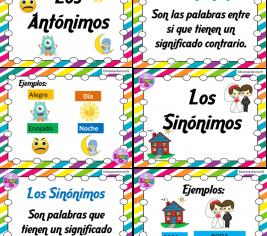 Grandiosos diseños de Sinónimos y Antónimos