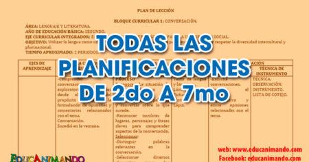 TODAS LAS PLANIFICACIONES DE 2do A 7mo