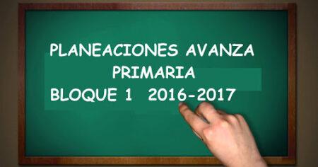 Planeaciones de Primaria Actualizadas Bloque 1 2016-2017