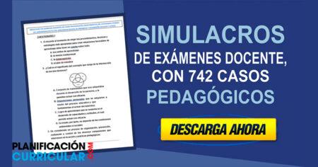 SIMULACROS DE EXÁMENES DOCENTE, CON 742 CASOS PEDAGÓGICOS