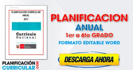 Planificación Anual de 1° a 6° grado primaria