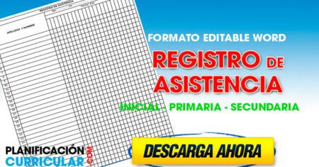 DESCARGAR MODELOS DE REGISTROS DE ASISTENCIAS INICIAL PRIMARIA Y SECUNDARIA