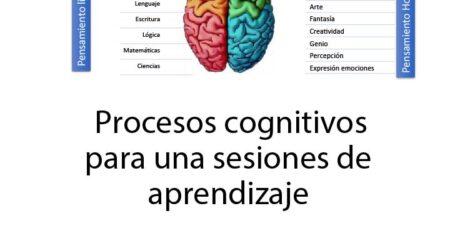 Procesos Cognitivos para en una sesión de aprendizaje