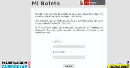AQUÍ LA PLATAFORMA PARA DESCARGAR BOLETAS DE PAGOS DE DOCENTES Y AUXILIARES DE EDUCACIÓN