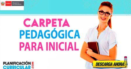 AQUÍ FORMATOS DE CARPETAS PEDAGÓGICAS PARA DOCENTES DE INICIAL (EDITABLE)