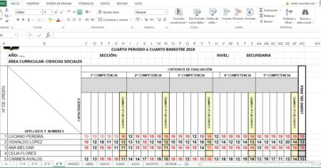 REGISTRO DE EVALUACIÓN BÁSICA DEL ÁREA DE CIENCIAS SOCIALES 2021 - EDITABLE
