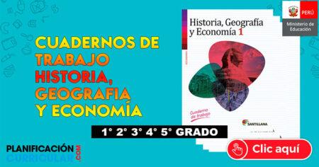 HISTORIA, GEOGRAFÍA Y ECONOMÍA, CUADERNO DE TRABAJO MINEDU - SECUNDARIA