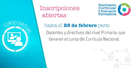 Convocatoria 2019 Curso Virtual de Planificación Curricular y Evaluación Formativa
