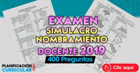 FABULOSO EXAMEN DE SIMULACRO NOMBRAMIENTO DOCENTE 2019 (MINEDU)