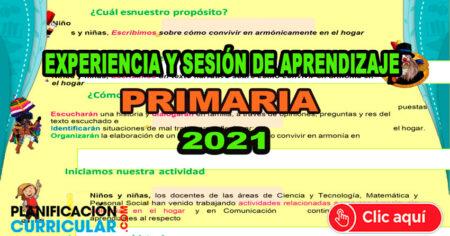 EXPERIENCIA Y SESIÓN DE APRENDIZAJE ÁREA DE COMUNICACIÓN PRIMARIA DE LA ESTRATEGIA APRENDO EN CASA 2021