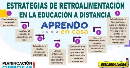 ESTRATEGIAS DE RETROALIMENTACIÓN EN LA EDUCACIÓN A DISTANCIA