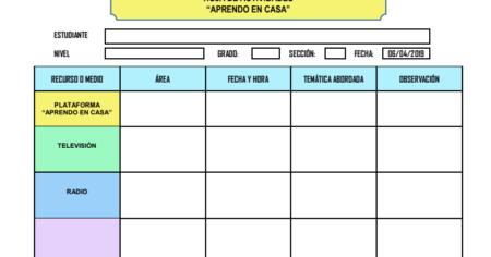 HOJA DE REGISTRO DE ACTIVIDAD PARA EL ESTUDIANTE DE LA ESTRATEGIA