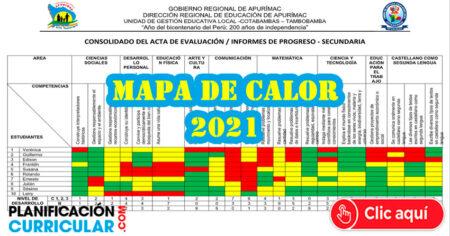 MAPA DE CALOR - Descarga Consolidado de Actas de Evaluación Sobre el Progreso de los estudiantes - PRIMARIA – SECUNDARIA 2021