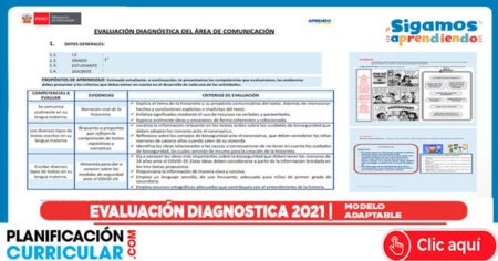EVALUACIÓN DIAGNOSTICA MODELO EN PPT EDITABLE 2021