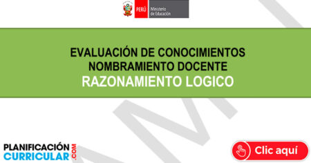 CONCURSO DE NOMBRAMIENTO DOCENTE 2021 - BANCO DE PREGUNTAS RAZONAMIENTO LÓGICO AQUÍ