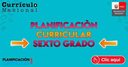 MODELO de PLANIFICACIÓN CURRICULAR 6to GRADO de PRIMARIA
