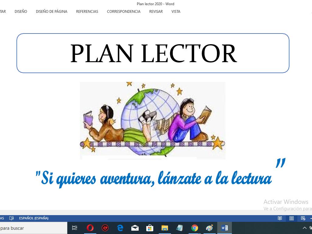 Plan Lector Primaria y Secundaria 2020