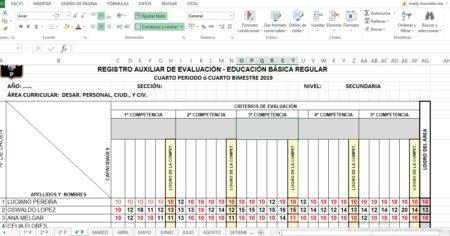 REGISTRO DE EVALUACIÓN BÁSICA PERSONAL SOCIAL