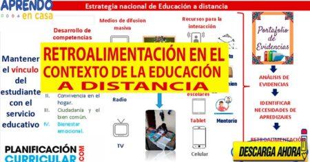 LA RETROALIMENTACIÓN EN EL CONTEXTO DE LA EDUCACIÓN A DISTANCIA ACTUALIZADO DEL PROYECTO