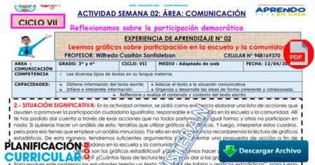 SESIÓN COMUNICACIÓN 3° y 4° - SEMANA 01 - SECUNDARIA