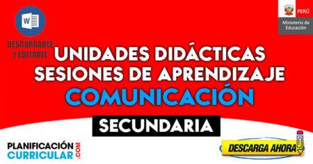 MODELOS DE UNIDADES DIDÁCTICAS SESIONES DE APRENDIZAJE COMUNICACIÓN SECUNDARIA