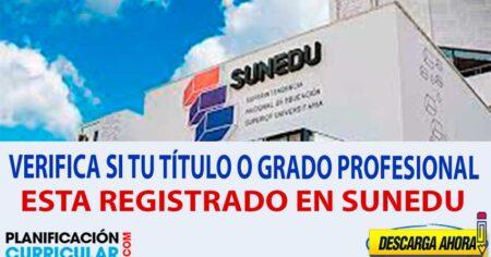VERIFICA SI TU TÍTULO O GRADO PROFESIONAL ESTÁ INSCRITO EN EL REGISTRO NACIONAL DE EDUCACIÓN SUPERIOR UNIVERSITARIO (SUNEDU)
