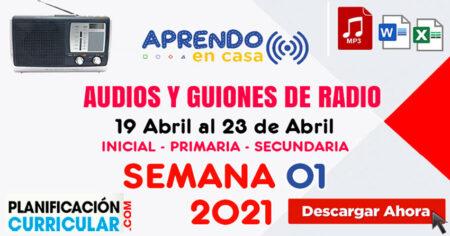 AUDIOS Y GUIONES SEMANA 01 - INICIAL PRIMARIA SECUNDARIA 2021 APRENDO EN CASA