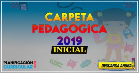 Modelo de CARPETA PEDAGÓGICA DOCENTE para INICIAL 2019