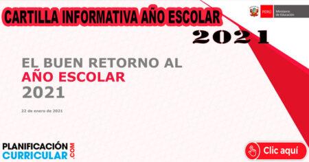 CARTILLA INFORMATIVA AÑO ESCOLAR 2021