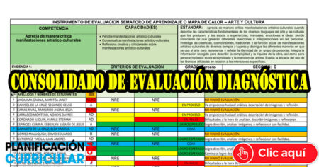 CONSOLIDADO DE EVALUACIÓN DIAGNÓSTICA 2021 - SECUNDARIA