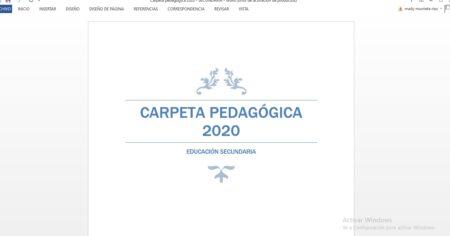 Carpeta Pedagógica 2020 – Secundaria [Editable]