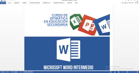 CURSO DE OFIMÁTICA PARA EDUCACIÓN SECUNDARIA 2020