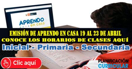 EMISIÓN DE APRENDO EN CASA RADIO Y TV 2021 Martes 20 de Abril- AQUÍ LOS HORARIOS DE INICIAL PRIMARIA Y SECUNDARIA