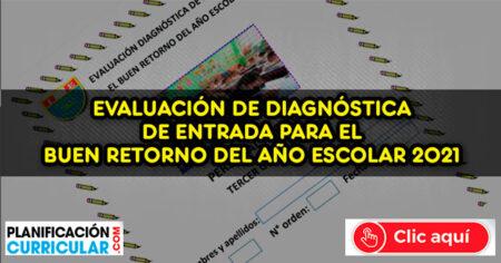 EVALUACIÓN DE DIAGNOSTICA DE EDUCACIÓN PRIMARIA 2021