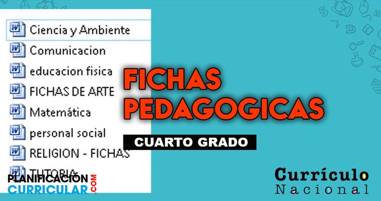🗂FICHAS PEDAGÓGICAS 4to GRADO 2019📎 | Planificacion Curricular