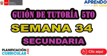 GUIÓN DE TUTORÍA 5° DE SECUNDARIA– SEMANA 34
