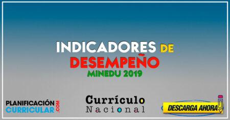 Indicadores de Desempeño 2019 NIMEDU