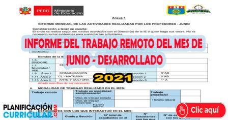 DESCARGA EL INFORME DE TRABAJO REMOTO DEL MES DE JUNIO 2021 (Desarrollado)
