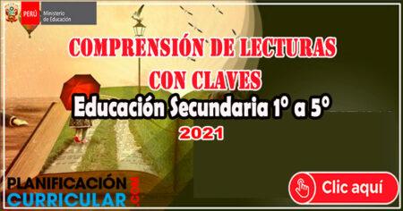Descarga Aquí - Comprensión de Lecturas con Claves de 1° a 5° de Educación Secundaria(JEC)