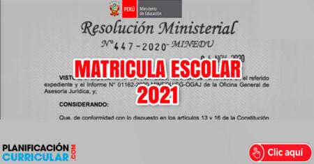 MATRICULA ESCOLAR 2021