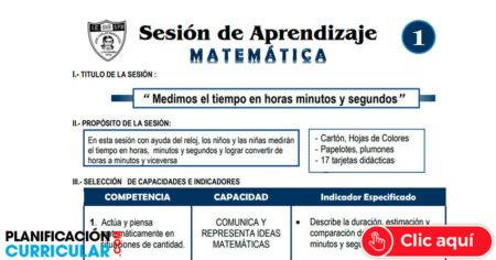 Modelo Sesión de Aprendizaje de Matemática