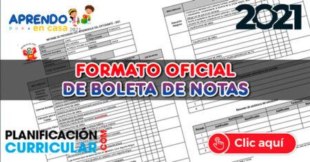 MODELO OFICIAL de BOLETA de NOTAS 2021