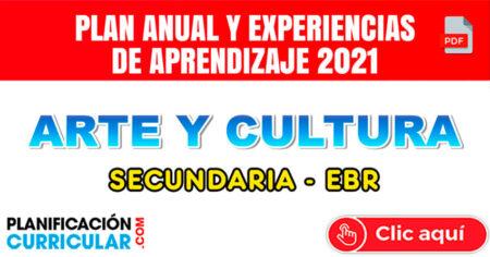 PLAN ANUAL Y EXPERIENCIAS DE APRENDIZAJE 2021 - ARTE Y CULTURA SECUNDARIA 2021