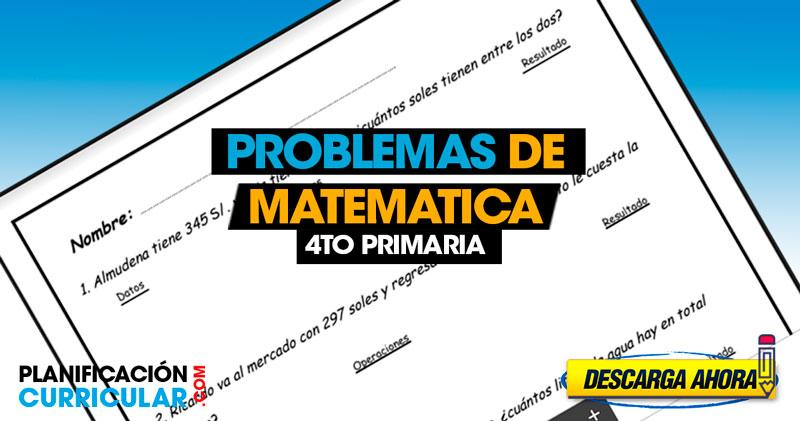 Problemas y ejercicios de MATEMÁTICAS 4to de primaria ...
