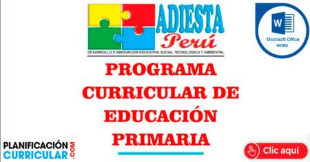 PROGRAMA CURRICULAR DE EDUCACIÓN PRIMARIA 2021 ✔APRENDO EN CASA