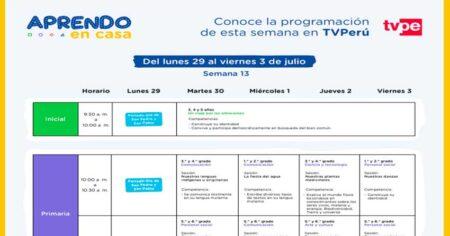 CONOCE LA PROGRAMACIÓN EN CASTELLANO EN RADIO Y TV PERÚ SEMANA 13 LUNES 29 DE JUNIO AL VIERNES 03 DE JULIO