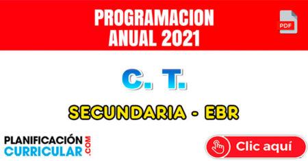 CIENCIA Y TECNOLOGÍA PROGRAMACIÓN ANUAL 2021