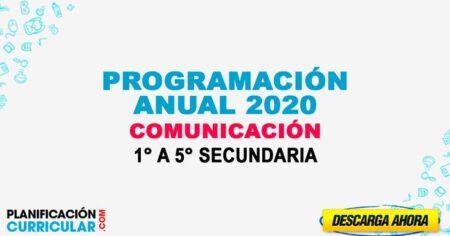 Programación Anual De COMUNICACIÓN 2020 [Editable] Educación secundaria