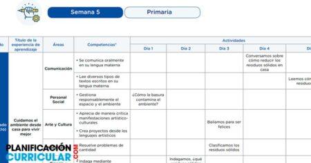 PROGRAMACIÓN SEMANAL POR COMPETENCIAS PARA INICIAL-PRIMARIA-SECUNDARIA